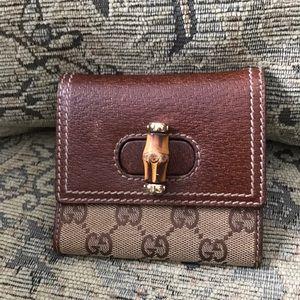 A Vintage Gucci wallet
